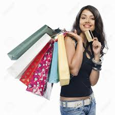 lady shopping with mastercard