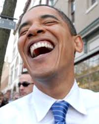 Pres laughing