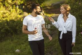 Guy chasing girl